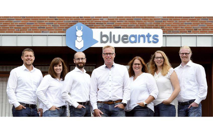 Das Team der blueants Nord GmbH in Heiden (Foto: Gerd Lorenzen)