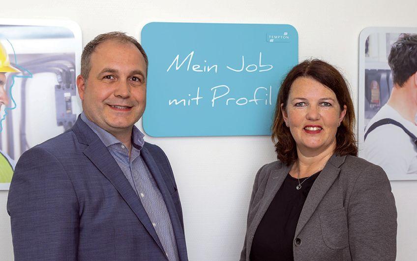 Jan Guldbrandsen (Gebietsleiter Nord West)  und Alexandra Thiele (Generalbevollmächtigte)  (Foto: info@jan-heinze.de)