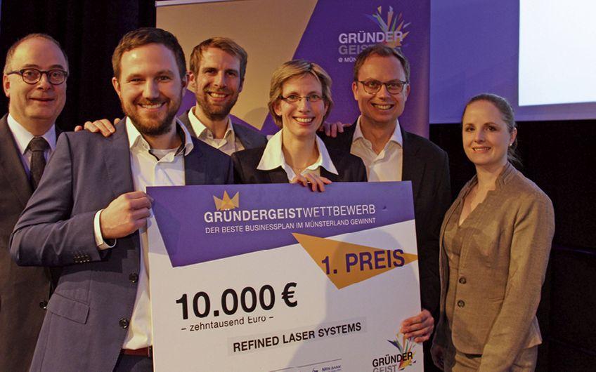 Gründergeist Wettbewerb: Refined Laser Systems mit bestem Businessplan