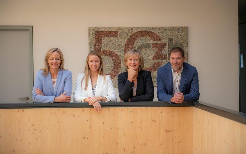 Sabine Hartmann, Ann-Kathrin Serve, Caroline Hartmann-Serve und Martin Serve (v.l.n.r)