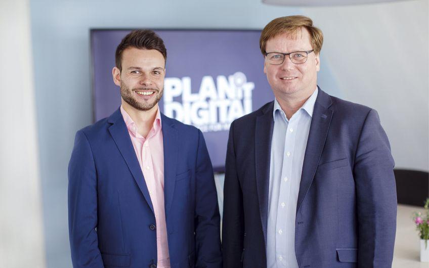 Dominik Ley, Digital Marketing Manager, und Wilfried Ley, CEO bei PLANiT DIGITAL (v.l.) Foto: © Siegfried Dammrath