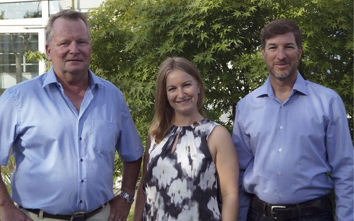 Die Geschäftsführer Peter Knappmann, Laura Knappmann und Thorsten Kemmerich (v.l.)
