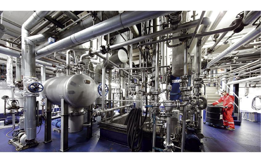 Destillationszentrale zur Herstellung von Basisölen (Foto: KSR-Gruppe)