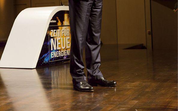 Der neue Vorstandsvorsitzende Dr. Thomas Perkmann während seiner Antrittsrede