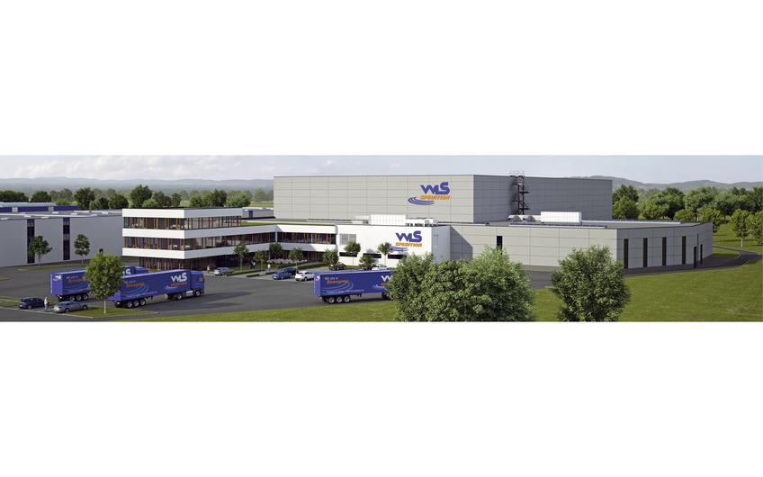 Logistikzentrum der Spedition WLS mit vollautomatischem  Hochregallager, Kommissionierhalle und Verwaltung in Steinhagen