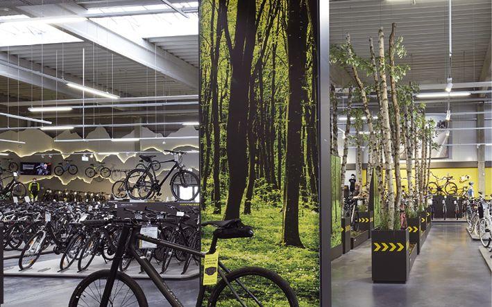 Besondere Gestaltungselemente geben dem Geschäft eine besondere Einkaufsatmosphäre