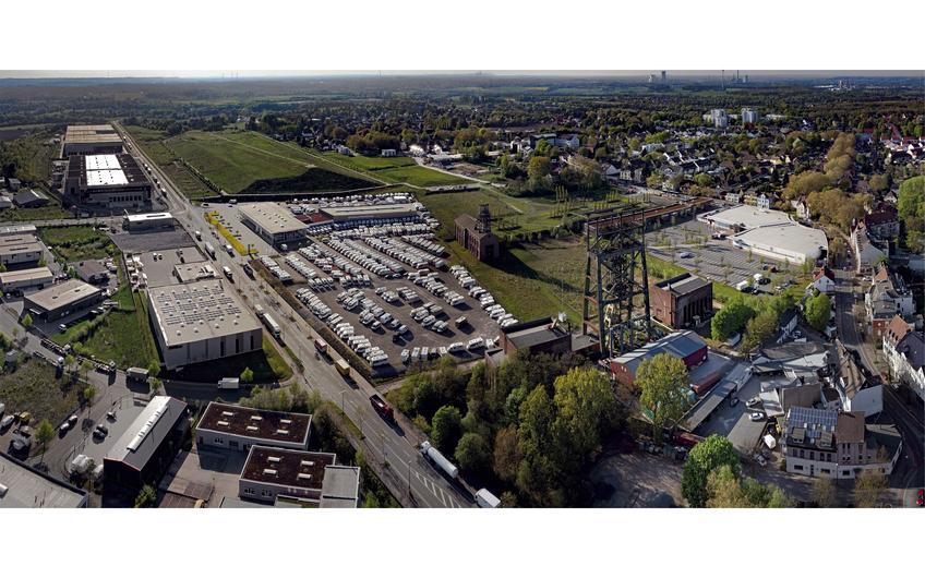 Luftaufnahme des Stadtquartiers Gneisenau in Dortmund-Derne (Foto: Thomas  Stachelhaus)