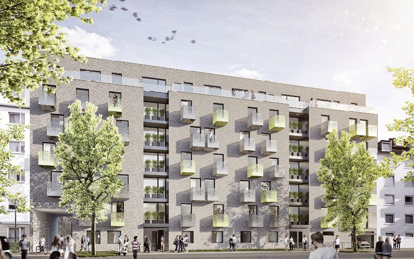 In direkter Nähe zur Hochschule Düsseldorf  werden derzeit Studentenapartments gebaut