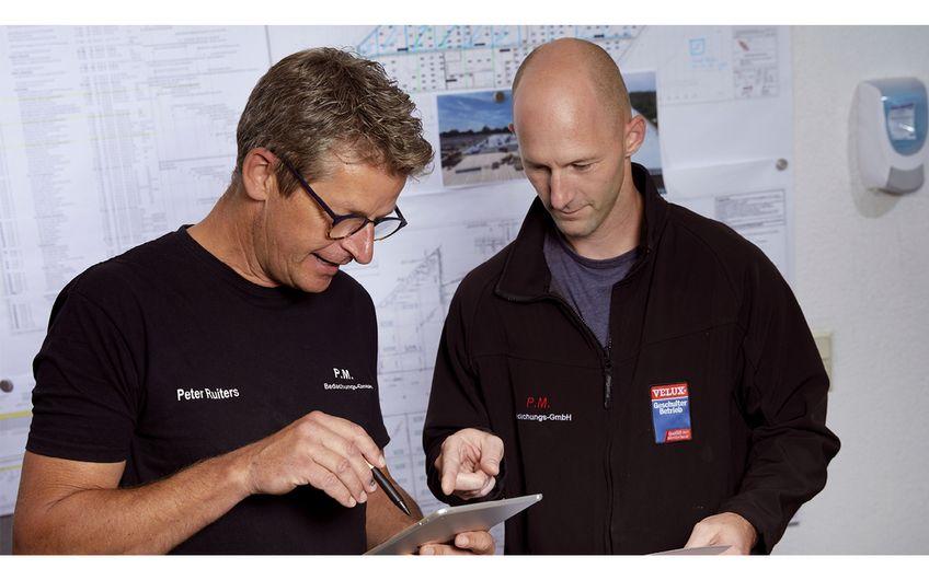 P. Ruiters und A. Toth  bei der Objektplanung