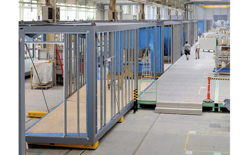 Die Module werden ressourcenschonend in Lean-Fertigung hergestellt