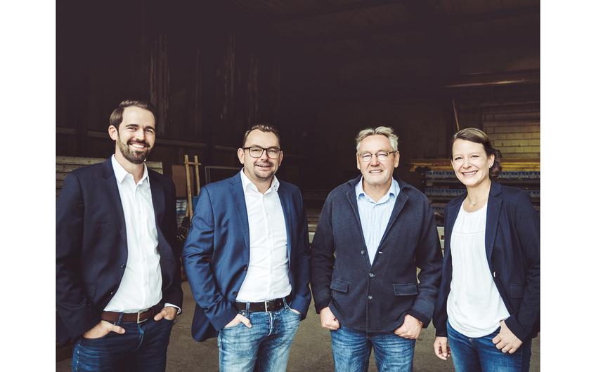 Die Geschäftsführung der SCHOTES Firmengruppe (v.l.):  Michael Schnitzler, Sebastian Schotes, Peter Schotes und Ina Schotes