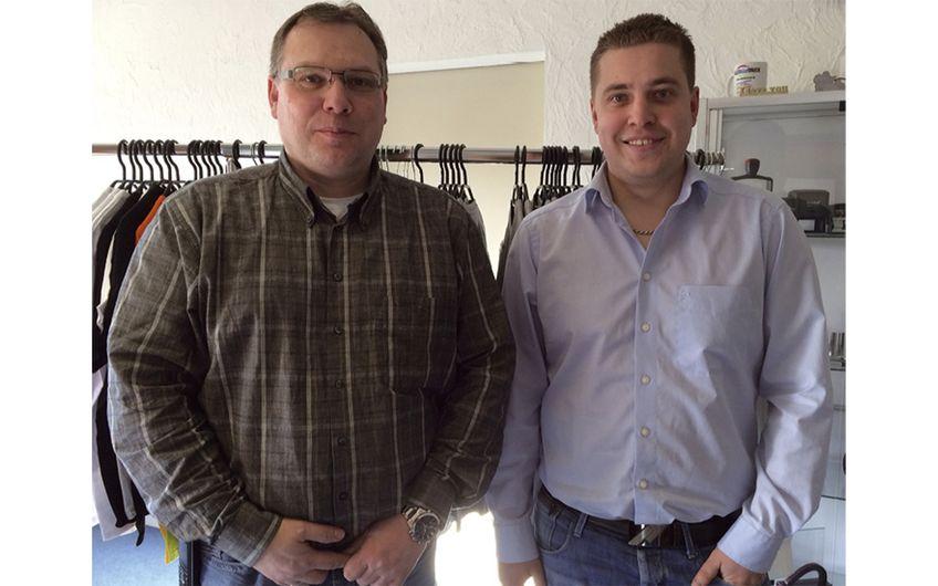 Die Geschäftsführer Andreas Körn  und Maxim Satler (v.l.)