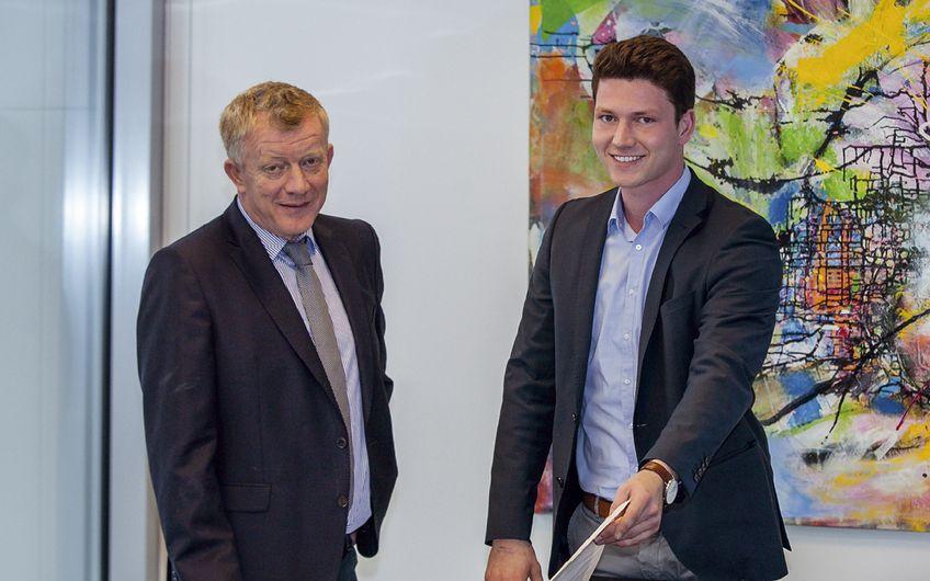 Geschäftsführer Johannes Lohmann mit seinem Sohn Johannes Lohmann jun. (v.l.)  Foto: Michael Sommer
