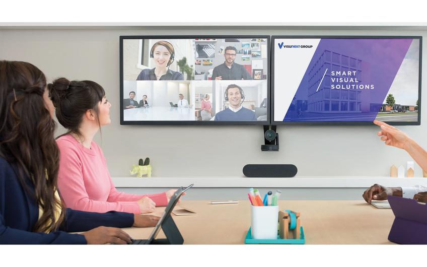 Ausgeklügelte Audio/Video Lösungen für hybride Meetings. visunext hilft bei der Umsetzung