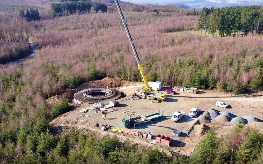 Gründungsarbeiten WEA-Park