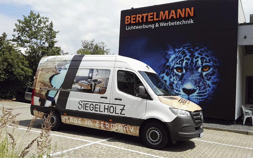 Siegeholz, Kirchlengern: Fahrzeugbeschriftung mit 3M-Zertifikat