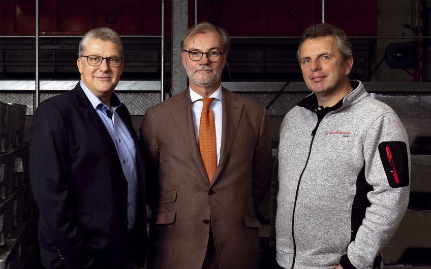 Die Geschäftsführer Marcus Ackermann und Hermann Stengel sowie Werksleiter Alexander Terhörst (v.l.) (Foto: Wort & Lichtbild)