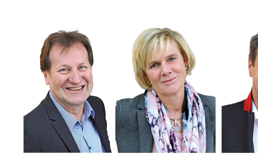 Geschäftsführung v.l.n.r.: Hans-Joachim Wendland, Angela Frank, Thomas Buß