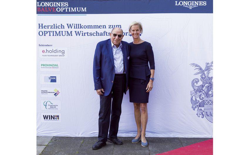 Senator Dr. Sigurd Pütter (Medice )  und Rosalie von Landsberg-Velen (Foto:  Thomas Hellmann)