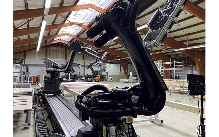 Die Zukunft im automatisierten Fertighausbau