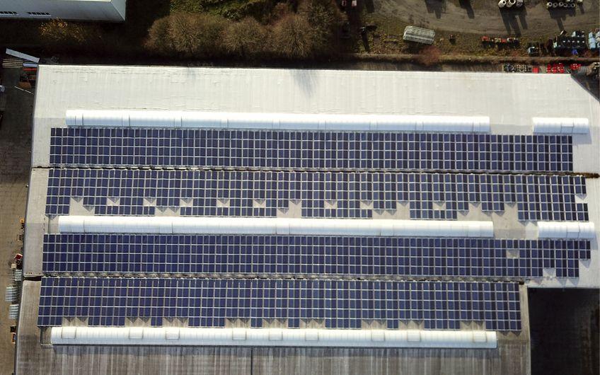 Die Photovoltaikanlage der Kremer Stahltechnik GmbH & Co. KG