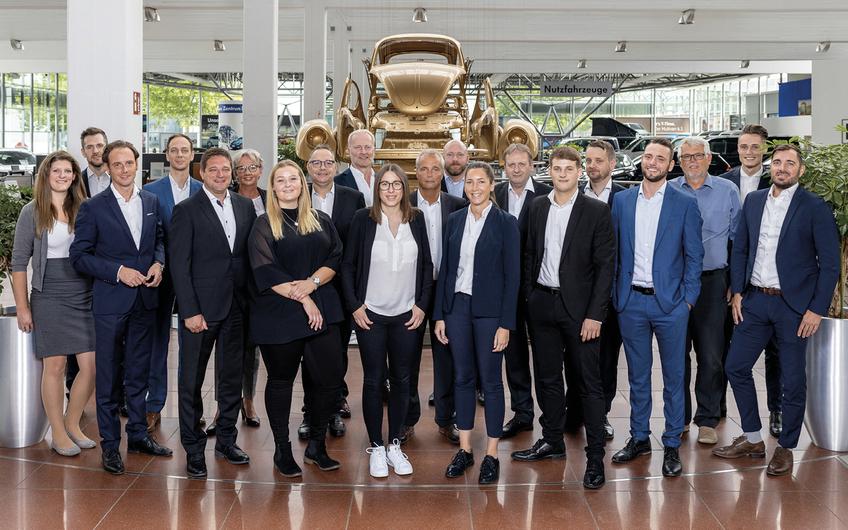 Das Team des Gottfried Schultz Großkunden-Leistungszentrums Düsseldorf