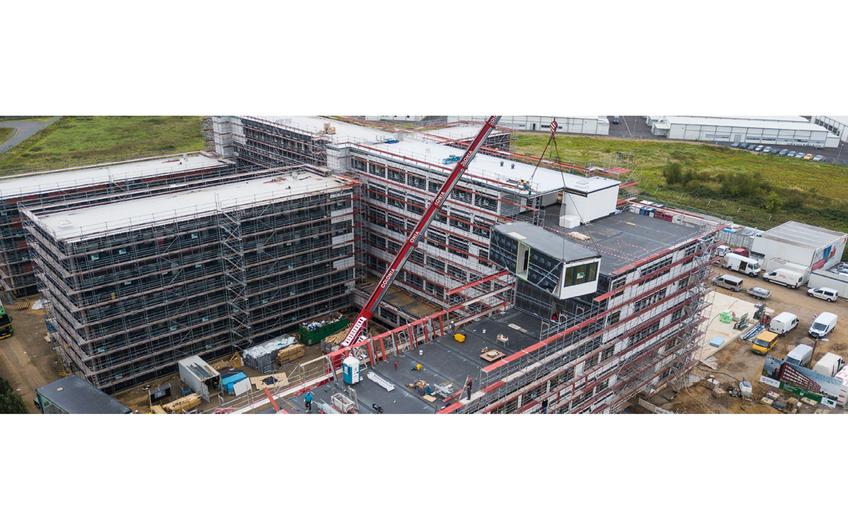 Auf ALHO Baustellen entstehen wegen der kurzen Bauzeit vor Ort 50% weniger Lärm und Staub und 20% weniger Baustellenverkehr.