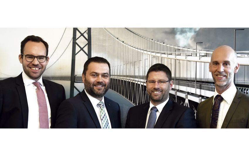 Das Führungsteam der Kanzlei BZG (v.l.): Philipp Sauset, Michael Glombitza, Guido Zinth und Guido Bleckmann (Foto: Gerd Lorenzen)