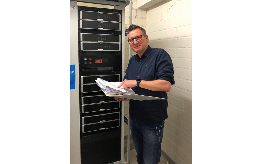Marius Hendzel, verantwortlich für Sicherheitstechnische Anlagen