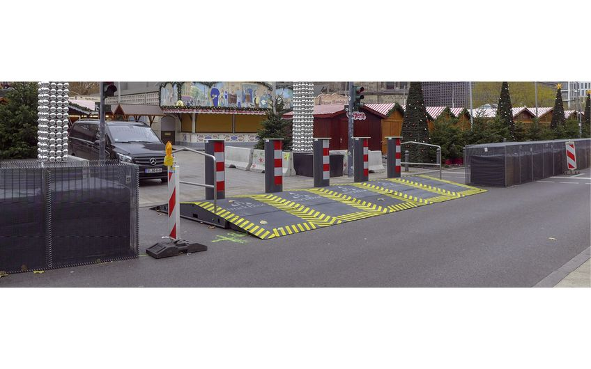 Am Berliner Breitscheidplatz wurden nach  dem Anschlag temporäre Varianten getestet (Foto: Betafence)