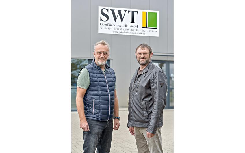 SWT-Geschäftsführer Rupert Schröer (links) und Prokurist Johann Ilenseer