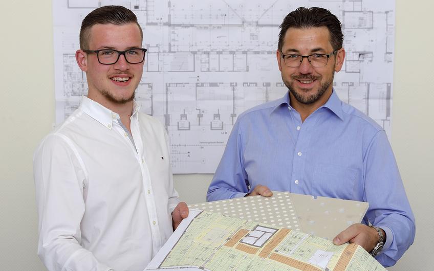 Die Geschäftsführer Robert und Patrick Kulig (v.l.) sorgen für einen schnellen, sauberen und zuverlässigen Ablauf des Innen- und Trockenausbaus