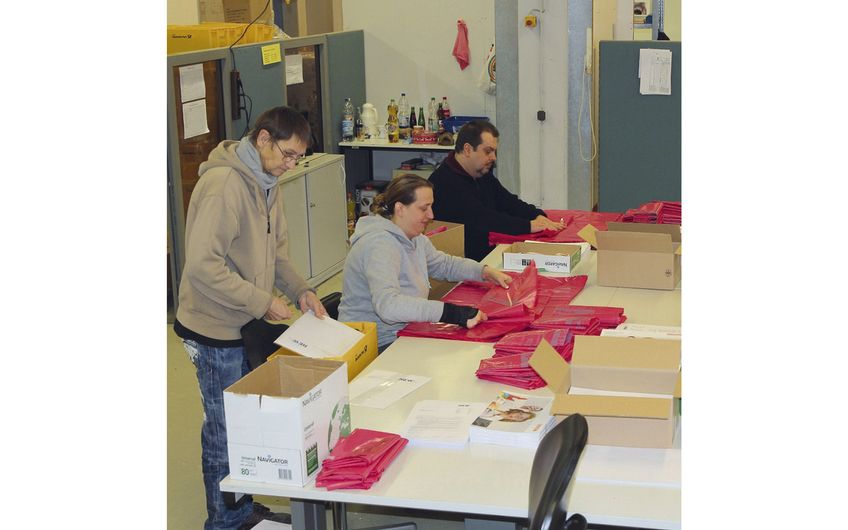 Manuelle Arbeiten werden in Kooperation mit den Behindertenwerkstätten Hephata durchgeführt