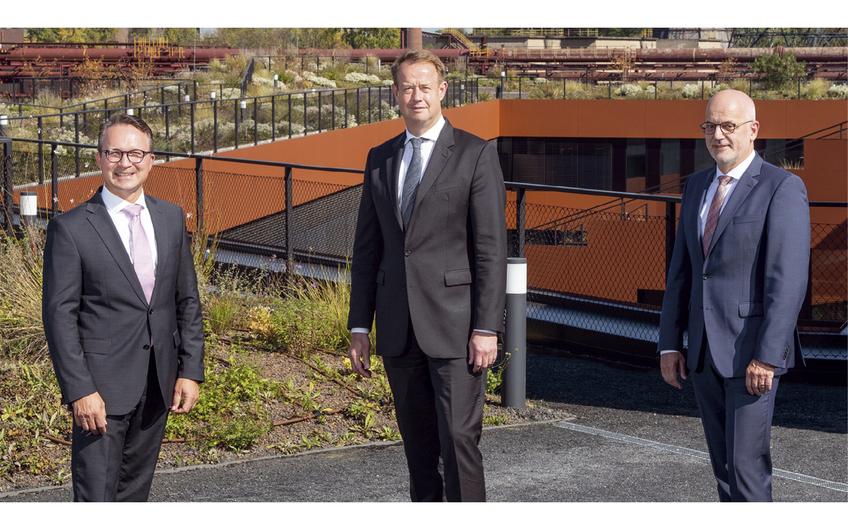 Die neue Geschäftsführung der RAG Montan Immobilien seit Oktober 2020: Ulrich Wessel, Michael Kalthoff und Stefan Hager (v.l.) (Foto: RAG, Dietmar Klingenburg)