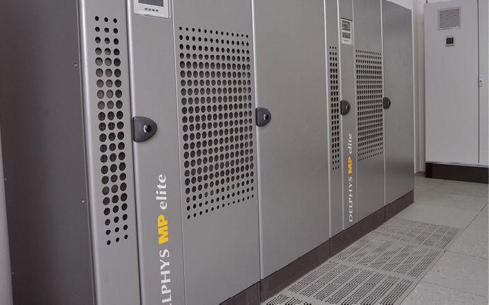 Die USV-Anlagen sorgen auch bei Stromausfall für den reibungslosen Betrieb