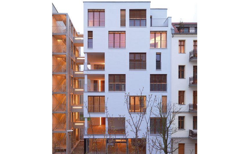 Projekt e3: die erste siebengeschossige Holzkonstruktion in einem großstädtischen Zentrumsbereich Europas (Foto: Kaden+Lager GmbH)