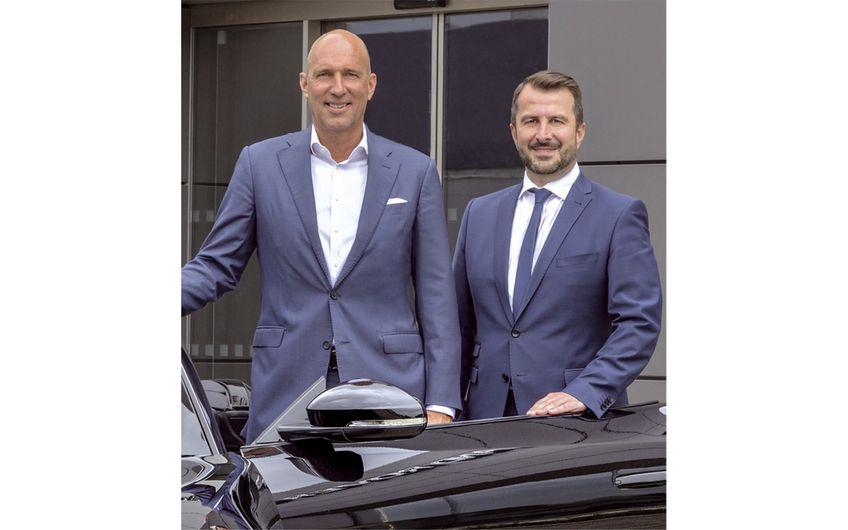 Die Geschäftsführer Jens Peters  und Günter Buchholz (v.l.) Foto: Jan Schmitz Werbefotografie