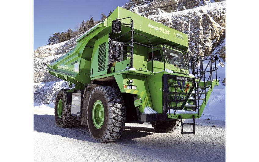 Elektro-Muldenkipper aus der Schweiz (Foto: eMining AG)
