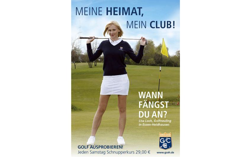 """Golfclub Essen-Heidhausen: """"Lisa locht in Heidhausen ein!"""""""