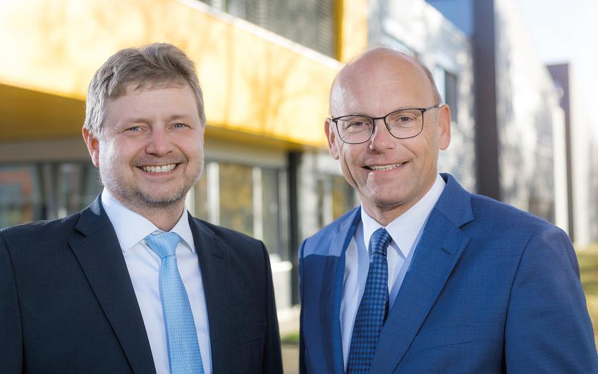 Die Geschäftsführer (v.l.): Dipl.-Ing. Stefan Wagener und Dipl.-Ing. Wolfgang Borgel