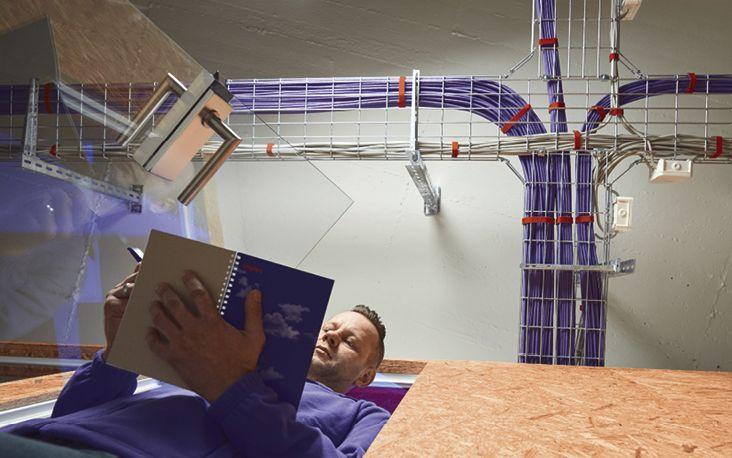 In ihren neuen Räumen hat die implec GmbH  über vier Kilometer Netzwerkkabel verlegt
