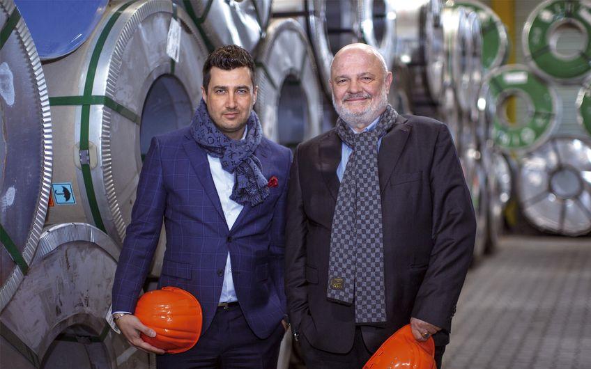 Geschäftsführer Navid Thielemann  und Firmengründer Michael Lang (v.l.) (Foto: Siegfried Dammrath)