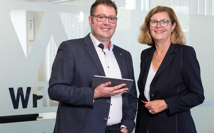 Geschäftsführer der Wrede GmbH Softwarekonzepte Christoph Becker, Andrea Kosmann