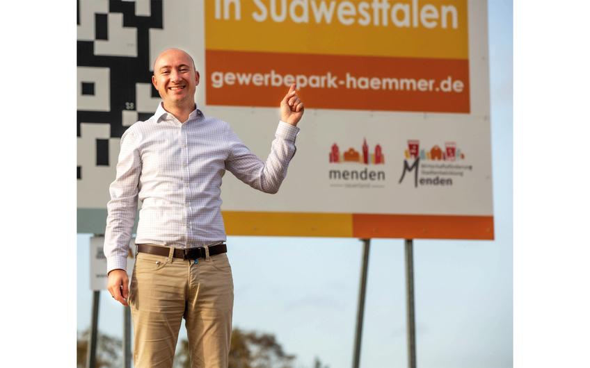 Auf der Suche nach den passenden Unternehmen für das modernste Gewerbegebiet Südwestfalens:  Tim Behrendt, Geschäftsführer der Wirtschaftsförderung Menden.