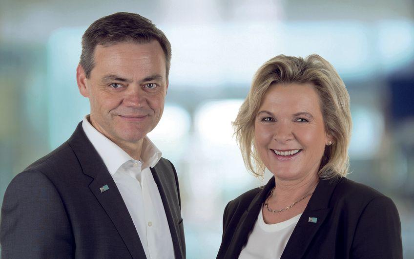 Josef Ranner, CFO, und Anke Höfer, CEO  der CONET-Unternehmensgruppe Foto:Fuzzy office photo