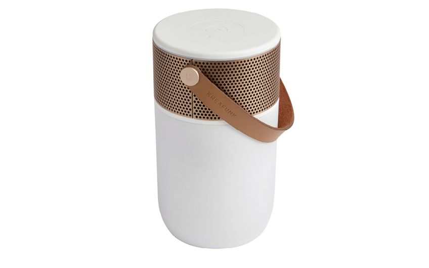 Kreafunk aGlow  Leuchte, Wecker, Lautsprecher – aGlow ist multifunktional und im Design stilvoll. Typisch Skandinavien. UVP 149 Euro