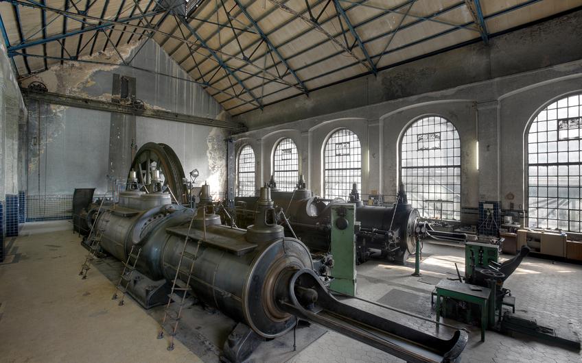 Die alte Dampfmaschine der Zeche