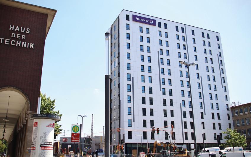 Premier Inn Essen Hauptbahnhof:  Hotel mit 189 Zimmern,  LPH 1-5,  Bauherr: Premier Inn Investments GmbH,  Planungszeitraum: seit 2017,   Baubeginn: 1. Quartal 2019,  BGF: 8.600 m²