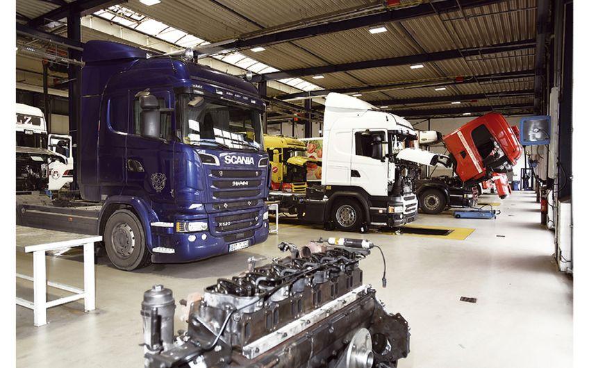 """Das """"Scania-Mekka"""" ist ein Wohlfühlort für Jörg Breuers Kunden"""