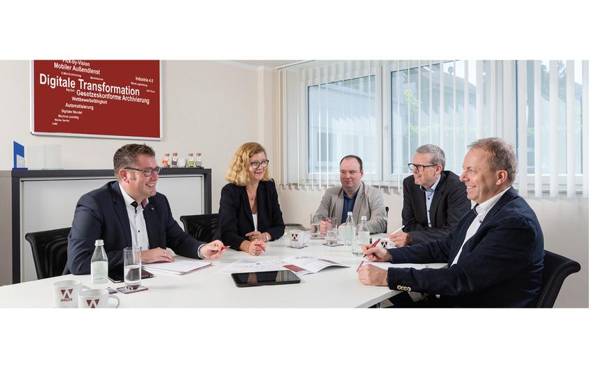 Konzeptentwicklung im Team: Christoph Becker, Andrea Kosmann, Marco Cobovic, Christoph Bröker, Carsten Wilmes (v.l.n.r.)